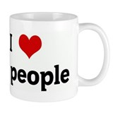 I Love fat people Small Mug