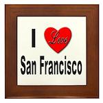 I Love San Francisco Framed Tile