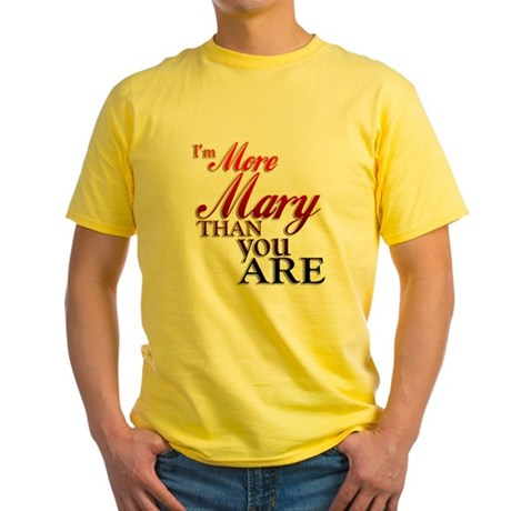 More Mary Yellow T-Shirt