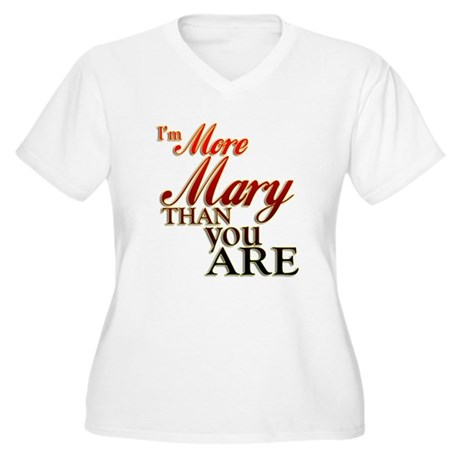 More Mary Women's Plus Size V-Neck T-Shirt