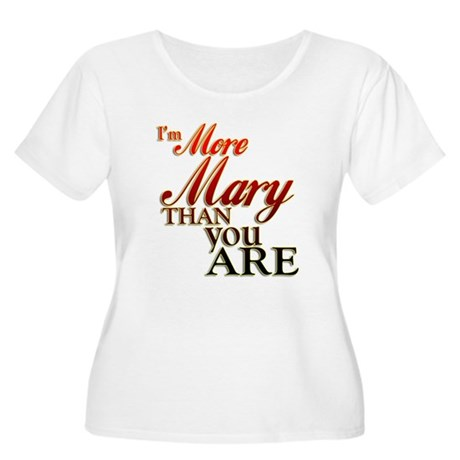 More Mary Women's Plus Size Scoop Neck T-Shirt