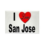I Love San Jose California Rectangle Magnet (10 pa