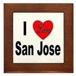 I Love San Jose California Framed Tile