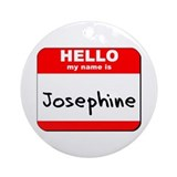 Hello my name is Josephine Ornament (Round)