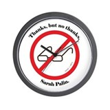 No Palin Zone Wall Clock