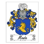 Monte Family Crest Small Poster