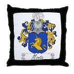 Monte Family Crest Throw Pillow