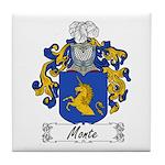 Monte Family Crest Tile Coaster