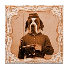 St. Bernard LEFTY Tile Coaster