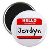 "Hello my name is Jordyn 2.25"" Magnet (10 pack)"