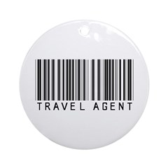 Travel Agent Barcode Ornament (Round)