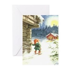 God Jul och Godt Nyatt År Greeting Cards (Package