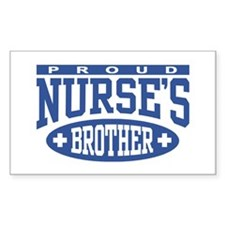 Proud Nurse's Brother Rectangle Decal