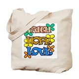faith hope and love Tote Bag