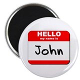 "Hello my name is John 2.25"" Magnet (10 pack)"