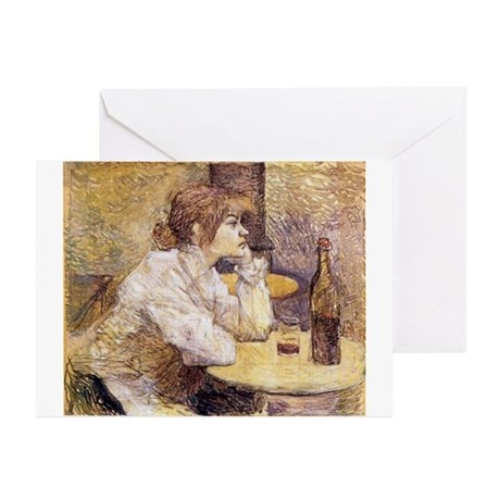 The Hangover (Woman Drinking) Greeting Cards (Pk o