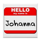 Hello my name is Johanna Tile Coaster