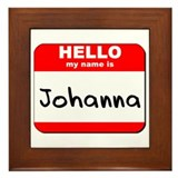Hello my name is Johanna Framed Tile