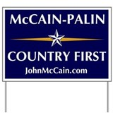 McCain-Palin (Country First) Yard Sign