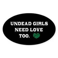 Undead Love Oval Decal