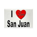 I Love San Juan Puerto Rico Rectangle Magnet (10 p