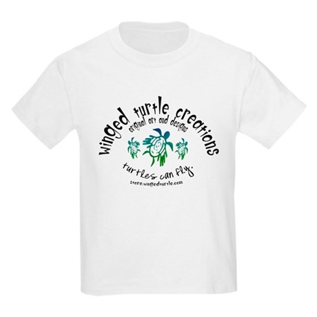 Winged Turtle Logo Kids T-Shirt