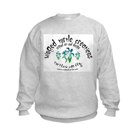 Winged Turtle Logo Kids Sweatshirt