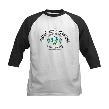 Winged Turtle Logo Kids Baseball Jersey