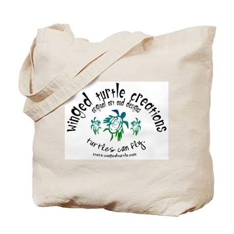 Winged Turtle Logo Tote Bag