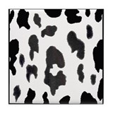 Basic black and white cow print Tile Coaster