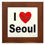 I Love Seoul South Korea Framed Tile