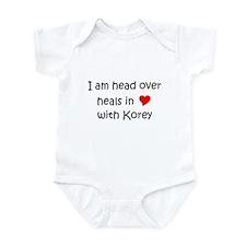 Funny I love korey Infant Bodysuit