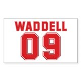 WADDELL 09 Rectangle Decal
