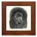 Black Poodle Framed Tile