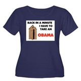 TAKE AN OBAMA Women's Plus Size Scoop Neck Dark T-