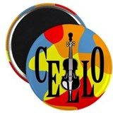 Cello In Text 2.25&quot; Magnet (100 pack)