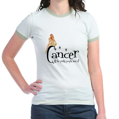 Pretty People have Cancer Jr. Ringer T-Shirt