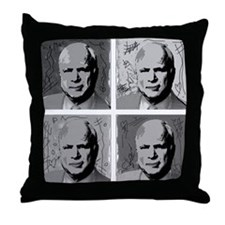 Black & white McCain Throw Pillow