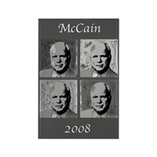 Black & white McCain Rectangle Magnet (10 pack)