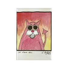Cat from Hell Rectangle Magnet