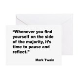 Mark Twain Majority Quote Greeting Card