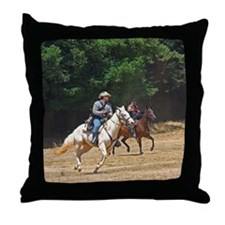 Horse Battle Throw Pillow