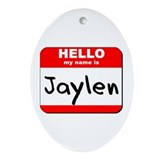 Hello my name is Jaylen Oval Ornament