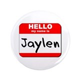 "Hello my name is Jaylen 3.5"" Button"