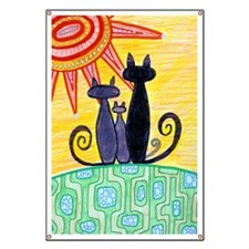 Sunrise Cats Banner