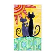 Sunrise Cats Rectangle Decal