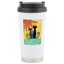 Sunrise Cats Travel Mug