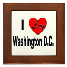 I Love Washington D.C. Framed Tile