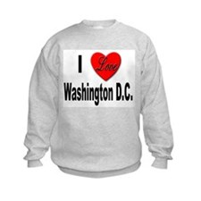 I Love Washington D.C. (Front) Sweatshirt