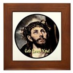 God Loves You! Framed Tile